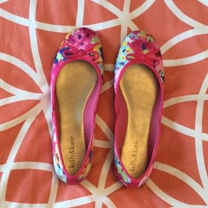 kelly&katie floral flats