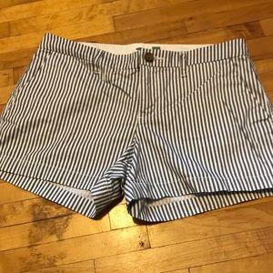 Old Navy Grey&White Stripped Shorts