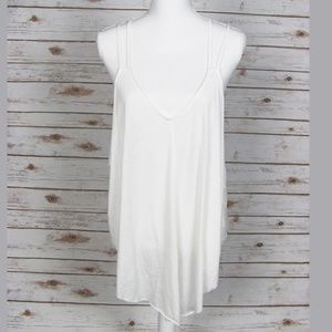 We The Free Tank Top White Strappy Size M NWOT