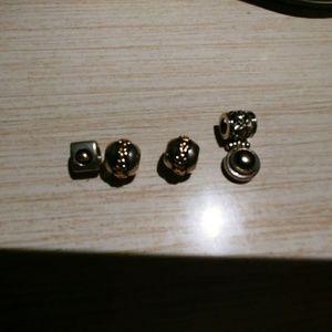 Vintage sterling silver bracelet charms bundle