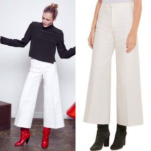 Isabel Marant Steve Wide Leg Cropped Trousers