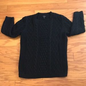 Talbots Black Cable Knit Sweater