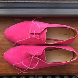 ZARA Flats, Bright Pink Derbies