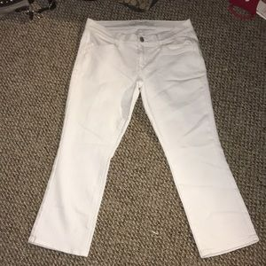 White capris never been worn