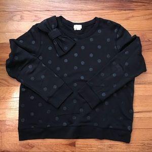 Kate Spade Polka Dot And Bow Sweatshirt