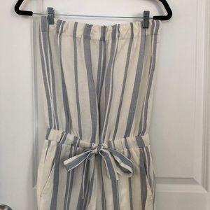LOFT Strapless Striped Jumpsuit - XS Petite!