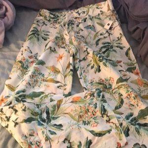 NWT Gap Body Linen Floral Pants