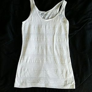 Brand new patterned white tank top