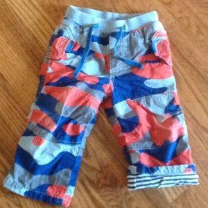 Mini Boden Camo Lined Pants 18-24m