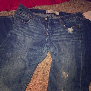 A&F straight leg jeans!