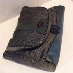 Tumi Gray Nylon Deluxe Travel Kit Bag w/Hanger