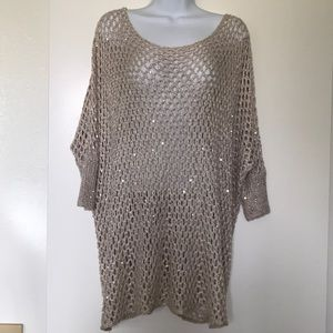 Sequin Sweater like Top