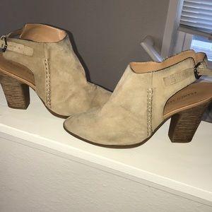 Franco sarto tan pointed heels