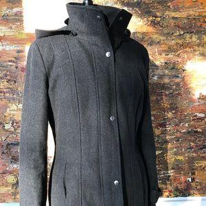 Calvin Klein Grey Hooded Coat Sz 8
