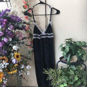 Black Silky Nightgown