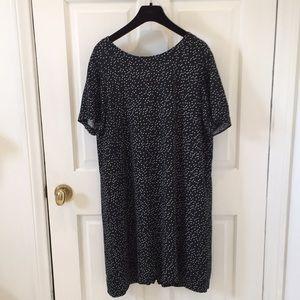 Madewell polka dot zip-back dress size 8