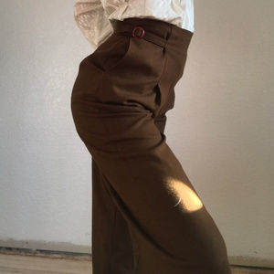 Vintage high waist cinched waist trousers