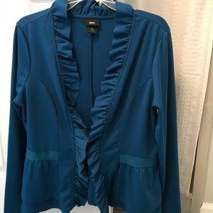 Blue ruffled jacket
