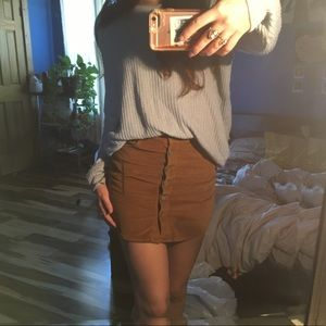 Brown button up skirt