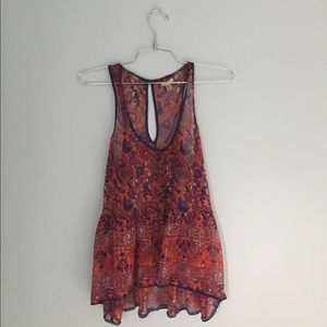 Urban Outfitters Ecoté Sheer Tank Top