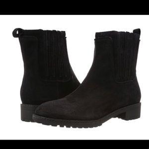Via Spiga black suede Erisa Chelsea boots 8.5 NWT