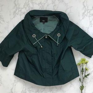Mossimo teal cropped rain coat jacket XL oversized