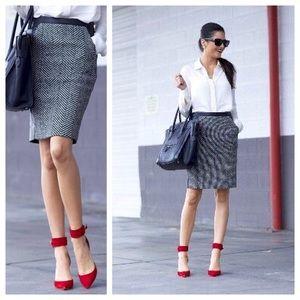 H&M herringbone pencil skirt