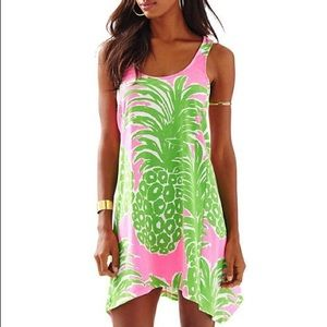 Pineapple Monterey dress pink green