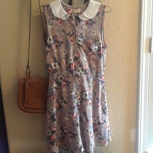 Modcloth cotton candy peter pan floral dress small