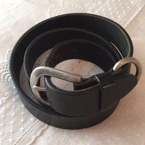 Vtg black leather belt