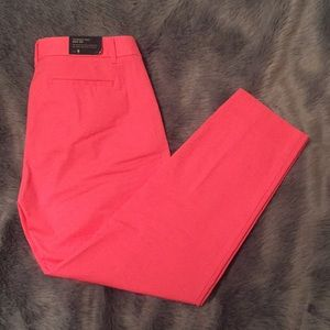 J. Crew pink City Fit stretch trousers