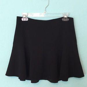 Sam Edelman Black Flare Mini Skirt