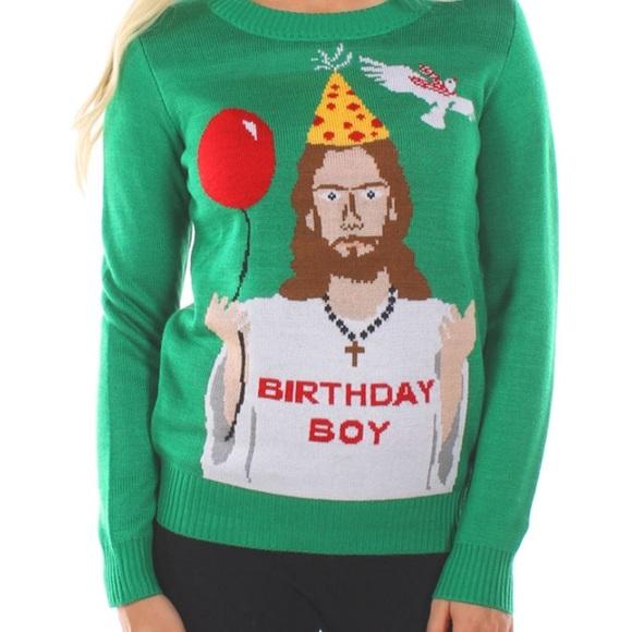 tipsy elves birthday boy christmas sweater