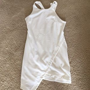White asymmetrical cocktail dress