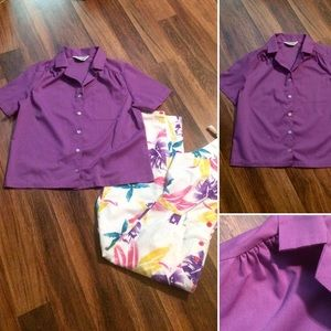 New Listing! Vintage Purple Button Down Shirt