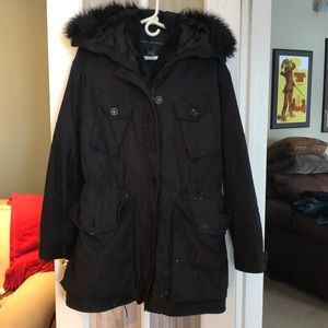 French Connection 2-in-1 black winter coat