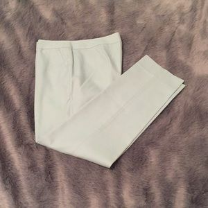 Mint green J. Crew cropped trousers