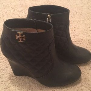 Tory Burch quilted booties