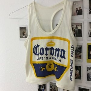 Corona Life's a Beach tank top