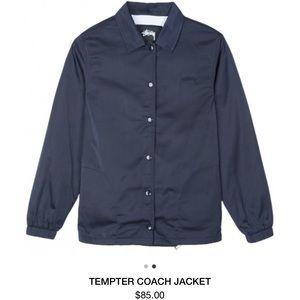Navy Tempter Coach Jacket
