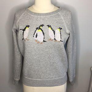 American Eagle Gray Sweatshirt with Penguins 🐧