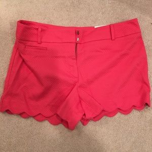"Scalloped 4"" shorts size 12"