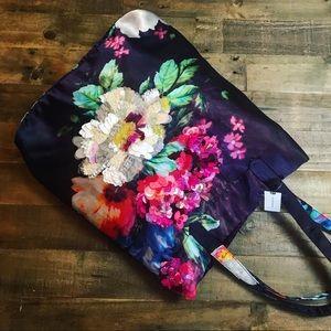 Anthropologie embellished silk tote bag