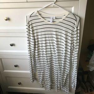Nordstrom BP long sleeve striped shirt size XS