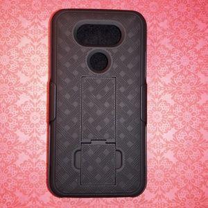 Other - 🎁LG G5 Black Textured Kickstand Holster Case