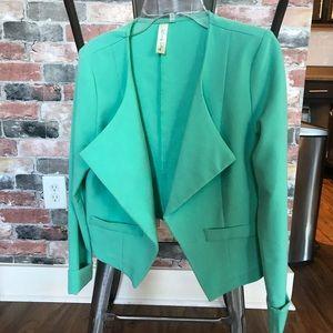 Jackets & Blazers - Teal cropped blazer