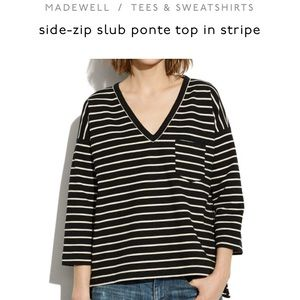 Madewell ponte striped sweater
