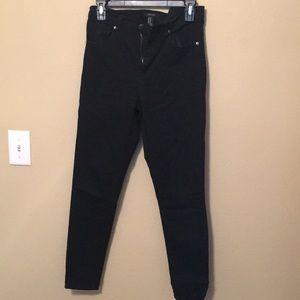Forever 21 high rise black skinny jeans