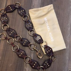 Michael Kors Brown/Gold belt