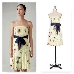 Maeve Floral Strapless Dress